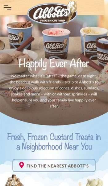 Abbott's Frozen Custard Mobile Screenshot