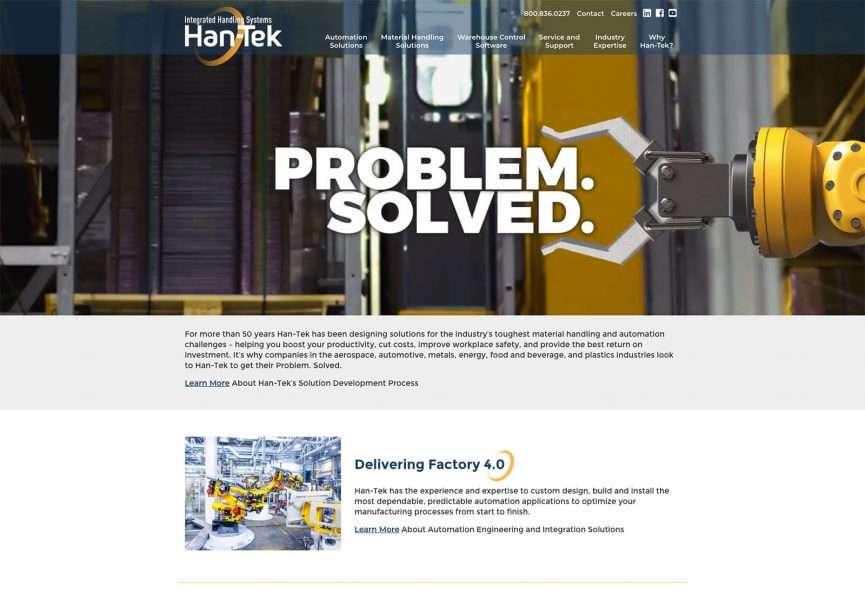 Han-Tek Integrated Handling Systems Desktop Screenshot