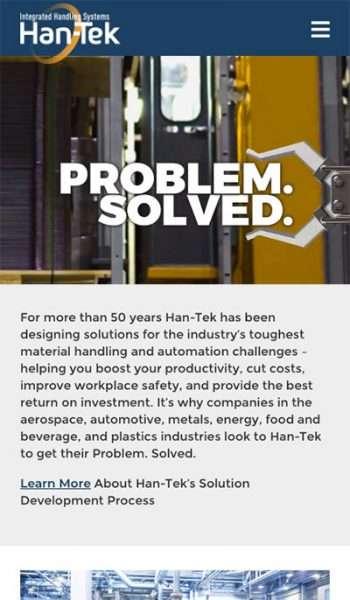 Han-Tek Integrated Handling Systems Mobile Screenshot