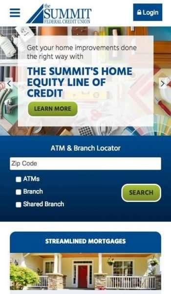 The Summit FCU Mobile Screenshot