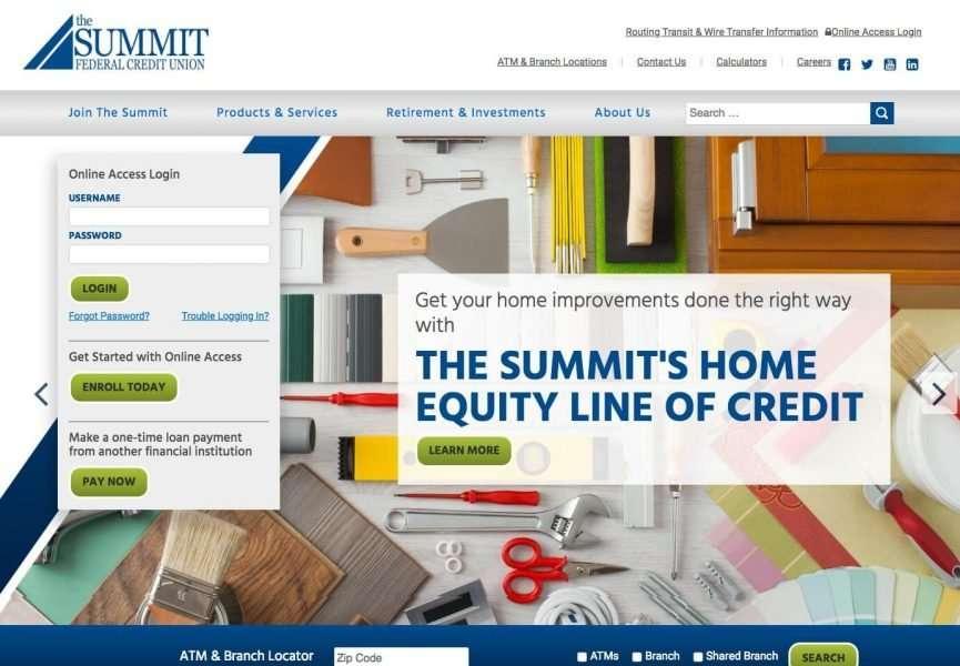 The Summit FCU Desktop Screenshot