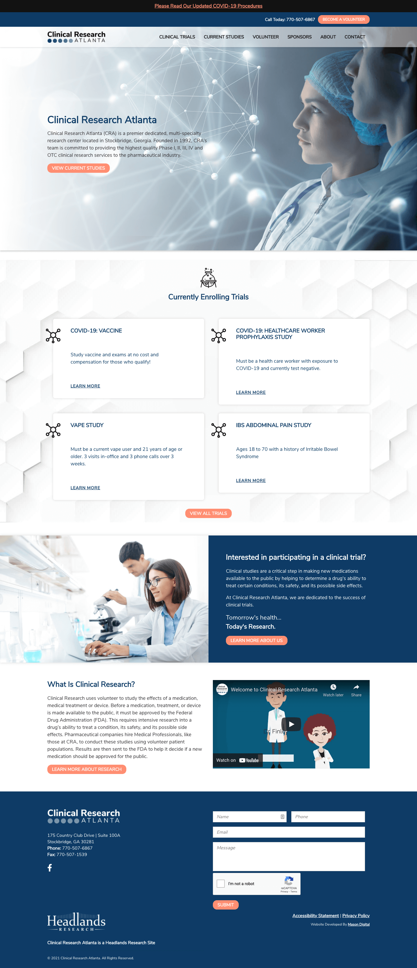 Clinical Research Atlanta