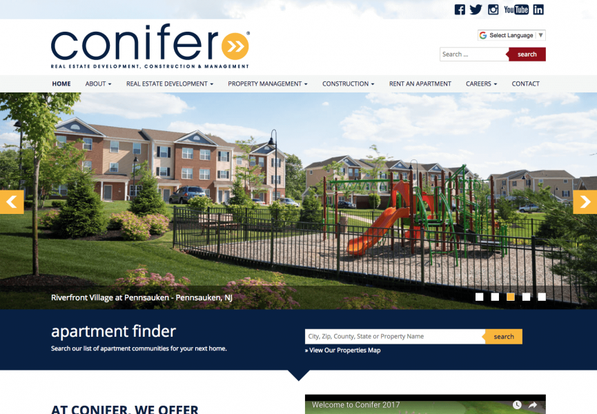 Conifer LLC Desktop Screenshot