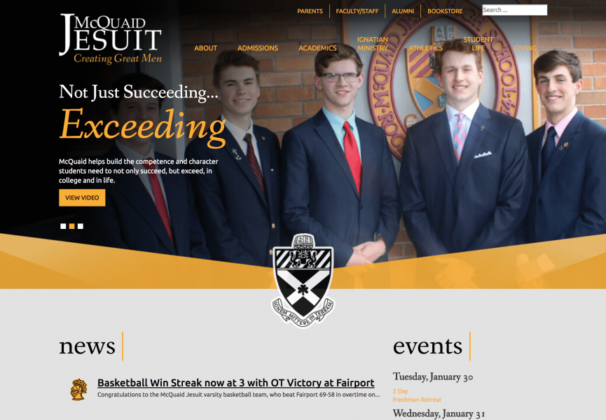 McQuaid Jesuit Desktop Screenshot