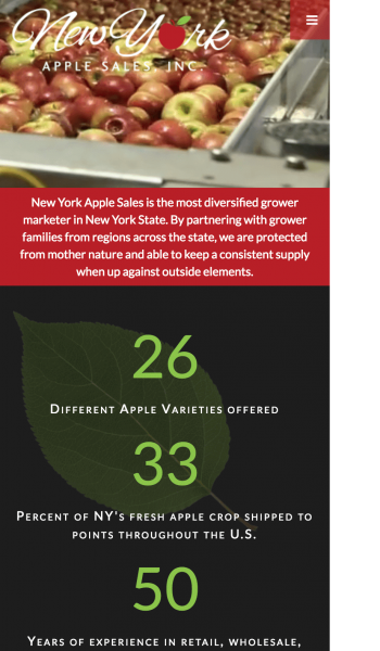 New York Apple Sales Mobile Screenshot