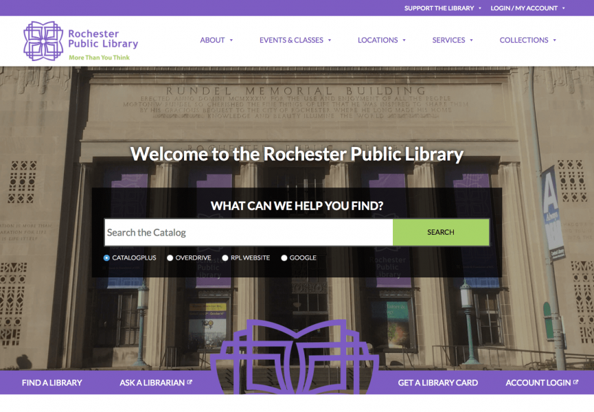 Rochester Public Library Desktop Screenshot