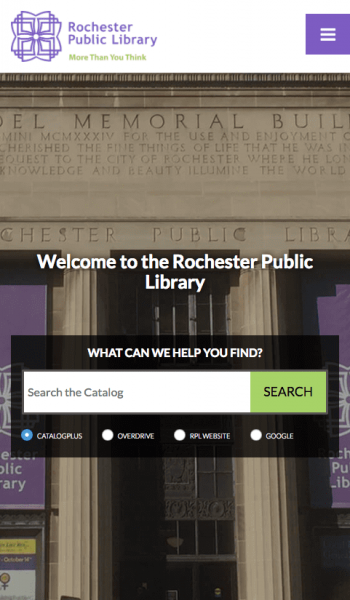 Rochester Public Library Mobile Screenshot